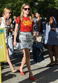 Guests are seen outside the Altuzarra show during New York Fashion Week Spring 2017 on September 11 2016 in New York City