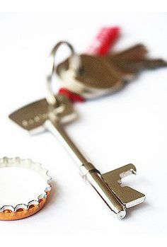 Not generally a fan of Urban Outfitters but they do have some clever/fun chotchkies. Bottle opener key, $8