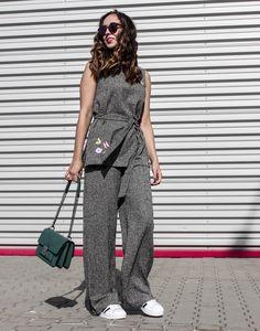 #grey #set #casual #minimal #chic #polishgirl #look #outfit #marks&spencer #bershka #parfois #adidas #warsaw #warsawfashionweek #poland