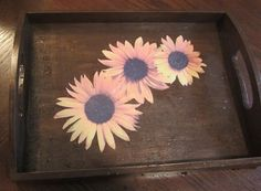 Brown Sunflower Serving / Tv Tray