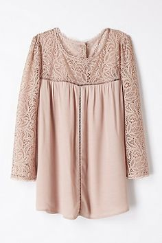 Lace Cloaked Blouse #anthropologie
