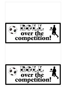"""Wish your soccer team good luck with these Tootsie Roll themed Team Treats. They will """"Roll over the competition"""" when they receive these bag topper free printables with lots of yummy candies inside. Sports Snacks, Team Snacks, Game Day Snacks, Soccer Banquet, Soccer Party, Soccer Games, Team Mom, One Team, Soccer Locker"""