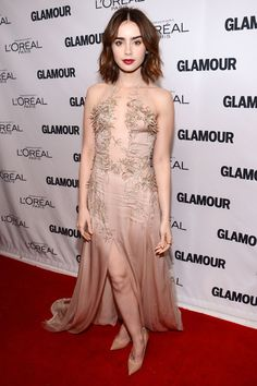Lily Collins at the Glamour Women of the Year Awards: http://beautyeditor.ca/2013/12/09/lily-collins-makeup/