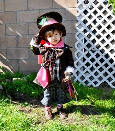 mad hatter kid halloween costume kid outfit - Mad Hatter Halloween Costume For Kids