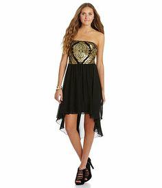 c329304308 As You Wish Brocade Sequin Hi-Low dress Available at Dillards.com  Dillards