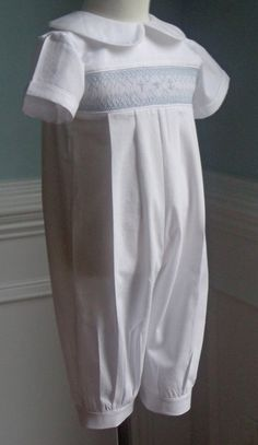Reserve for Melissa- Long Pants Baby Boy Baptism Hand Smocked outfit made to order on Etsy, $56.00