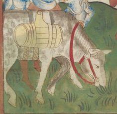 Kriegstechnik (Bilderhandschrift) Oberrhein · um 1420-1440 Ms. Rh. hist. 33b  Folio 140r Equestrian Outfits, Equestrian Style, Isabella Of Castile, Medieval Horse, Moving And Storage, The Old Days, Dark Ages, British Library, Renaissance