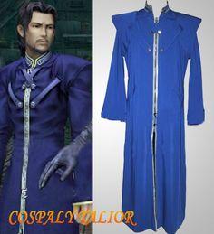 Final Fantasy VII Reeve Tuesti Cosplay  Mens Blue Halloween Costume(1198922)
