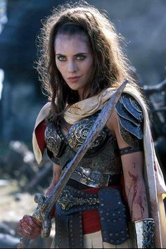 Livia, daughter of Xena the Warrior Princess, reincarnation of Callisto Xena Warrior Princess, Warrior Queen, Woman Warrior, Viking Warrior, Fantasy Warrior, Fantasy Characters, Female Characters, Cosplay, Celtic Warriors