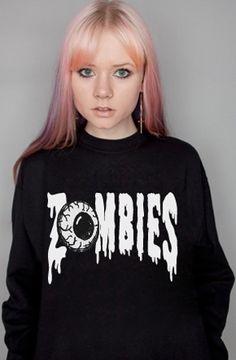 Petals and Peacocks Zombies Sweatshirt in Black : Karmaloop.com - Global Concrete Culture