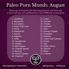 Paleo Porn Month - August Real Food Challenge #paleo #PaleoPorn #challenge