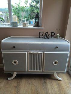 Shabby Chic/art Deco Sideboard Annie Sloan Paris Grey