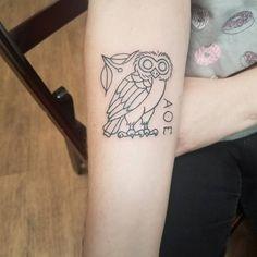 "lawral on Instagram: ""Lookit! Lookit! Tattoo by my sister @meggalodon! . . . #worneksisters @megganroseart @insightoceanside #athena #athenatattoo #athenaowl…"" Body Tattoos, I Tattoo, Athena Tattoo, Tattoo Catalog, Mastectomy Tattoo, Christmas Tattoo, Tattoo Project, Under My Skin, Beautiful Tattoos"