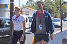 Paseo por Gijón. La heredera de los Onassis, Athina, y su esposo, el brasileño Doda Miranda, pasean por el centro de Gijón donde han disfrutado del campeonato hípico. La pareja se casó en 2005 y ambos comparten su pasión por la equitación.