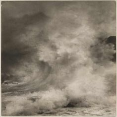 Gelatin silver print by Francis James Mortimer entitled 'Spirit of the Storm', 1911.