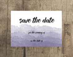 Ombre Wedding Save the Date www.etsy.com/uk/shop/PippinPrints