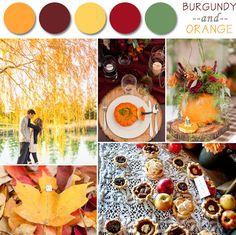 Perfect Fall Wedding Color Palette Ideas 2014 Trends | www.MadamPaloozaEmporium.com www.facebook.com/MadamPalooza