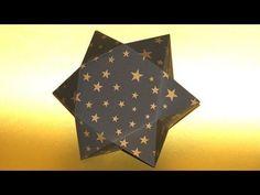 Sterne basteln... eine Stern - Geschenkbox falten... How to make a Star Gift Box - YouTube