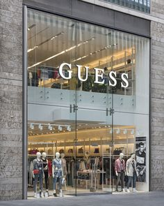First look: guess opens at liverpool one Shop Front Design, Store Design, Liverpool One, Rock Pools, Shop Organization, Shop Window Displays, Shop Plans, Layout, Store Fronts