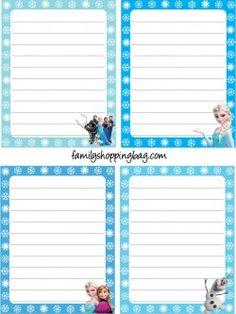 Stationery Stationery Free Printable Stationery, Printable Recipe Cards, Printable Paper, Free Printables, Frozen Theme, Frozen Party, Disney Frozen, Frozen Classroom, Frozen Crafts
