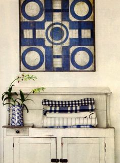 Blue and White Antiques Love | Content in a Cottage