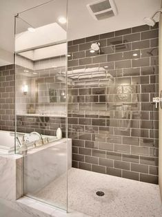 Rw Anderson Homes Modern Master Bathroom Design Ideas, Pictures, Remodel and Decor Modern Master Bathroom, Contemporary Bathrooms, Master Shower, Master Bathrooms, Downstairs Bathroom, Minimalist Bathroom, Small Master Bath, Garage Bathroom, Masculine Bathroom