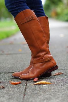 Cognac Riding Boots