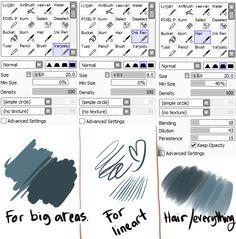 sadynax: So I couldn't make the video tutorial. - Vera's Art World Digital Painting Tutorials, Digital Art Tutorial, Painting Tools, Drawing Tools, Art Tutorials, Drawing Tablet, Paint Tool Sai Tutorial, Sai Brushes, Learn Art