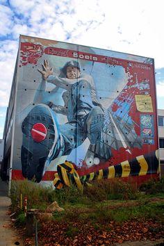Wall paints, Muurschilderingen, Peintures Murales,Trompe-l'oeil, Graffiti, Murals, Street art.: Heerlen - Netherlands James Jetlag