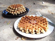 Gluten Free Waffles made with coconut and almond flours.