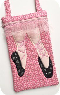 In The Hoop :: Ballet Shoe Purse - Embroidery Garden In the Hoop Machine Embroidery Designs
