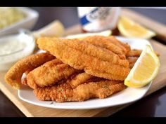 Easy and flavorful Southern Fried Catfish Recipe! Flaky and crispy catfish coated in a seasoned to perfect cornmeal batter. Bring on the hot sauce! Louisiana Fish Fry Seasoning Recipe, Fish Seasoning Recipe, Fish Batter Recipe Cornmeal, Cornmeal Recipes, Seafood Dishes, Seafood Recipes, Cooking Recipes, Meat Recipes, Fried Catfish Recipes