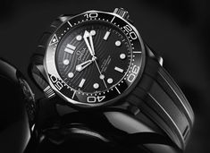 HODINKEE - Introducing: The Omega Seamaster Diver In Ceramic And Titanium: Bigger, stealthier, and – wonderful to relate –… - View Omega Seamaster Diver 300m, Omega Seamaster Automatic, Omega Speedmaster, James Bond, Cool Watches, Watches For Men, Men's Watches, Woman Watches, Men Watches