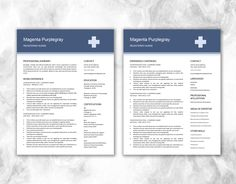 Nurse Resume Template For Word  Medical Resume Template  Nurse