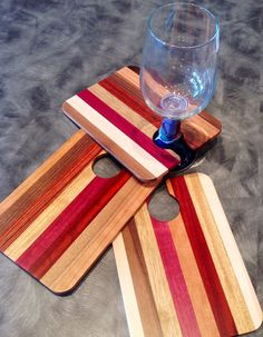 Party trays! Free up your hand with this great little snack tray that holds your wine glass for you!