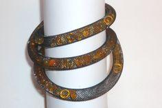 orange necklace _ VCF design