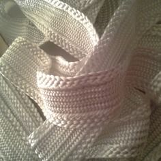 Galon, ruban sfifa marocaine, tissé en fil de soie blanc