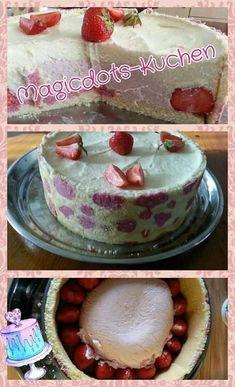 Erdbeer Magic Dots Torte Vanilla Cake, Desserts, Food, Pies, Kuchen, Tailgate Desserts, Deserts, Essen, Postres