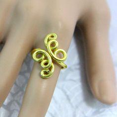 Crazy Diamond Adjustable Ring di melissawoods su Etsy