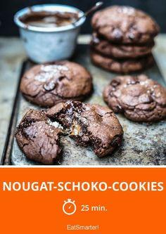 Nougat-Schoko-Cookies - smarter - Zeit: 25 Min. | eatsmarter.de