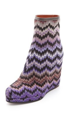 Missoni Print Ankle Boots