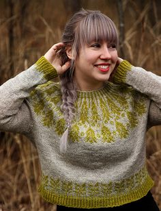 Ravelry: Grain pattern by Anna Johanna You are in the right place about fair isle knittings shawl He Fair Isle Knitting, Loom Knitting, Knitting Socks, Free Knitting, Ravelry, Motif Fair Isle, Icelandic Sweaters, Drops Design, Knitted Shawls