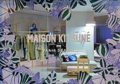 Maison Kitsuné, Paris 2016 by @dailyshopwindow #visualmerchandisingtrends #sticker #window #display Visual Display, Display Design, Store Design, Window Stickers, Window Decals, Shop Interior Design, Retail Design, Retail Windows, Store Windows