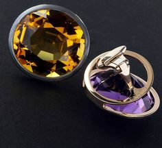 Citrine and amethyst earclips.  #taffinjewelry #taffin #jamesdegivenchy #jamestaffindegivenchy #jewellery #jewelry