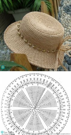 Than Fedora Hat Crochet Pattern Free 15 # knit crochet hat pattern Crochet Summer Hats, Crochet Cap, Crochet Diagram, Crochet Beanie, Crochet Motif, Crochet Stitches, Knitted Hats, Crochet Patterns, Knitting Patterns
