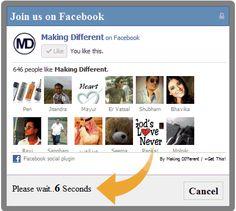 Popup hiển thị likebox của Fanpage facebook trên Blogspot (blogger)