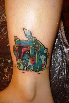 Bulbasaur + Boba Fett = BulbaFett Pokemon Tattoo on Global Geek News.