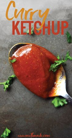 Homemade Curry Ketchup - Quick and Easy Version - Currywurst Homemade Curry, Homemade Spices, Homemade Ketchup, Homemade Seasonings, Vegetable Cake, Vegetable Recipes, Chimichurri, Mayonnaise, How To Make Curry