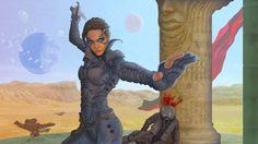 "Fremen character Chani, from Frank Herbert's ""Dune"" by Michael Stribling"