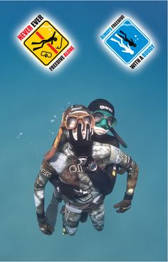 Always freedive with a buddy